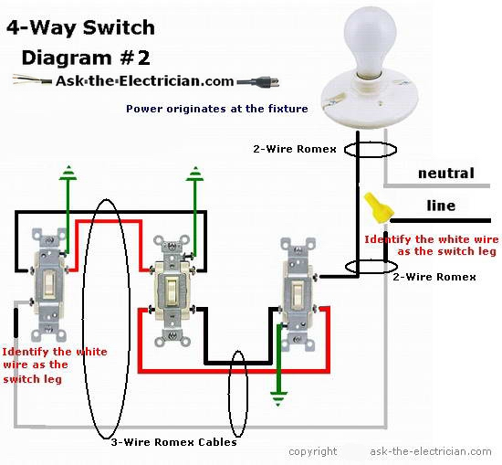 How To Wire A 4 Way Switch