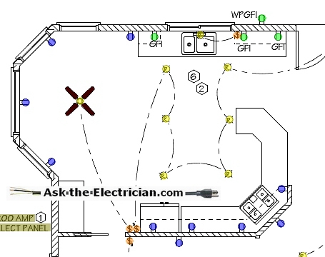 Kitchen Electrical on ceiling fan wiring schematic