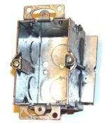 electrical wiring box - 1-gang metal cut in box
