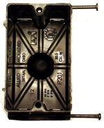 electrical wiring box - 1 gang plastic nail box