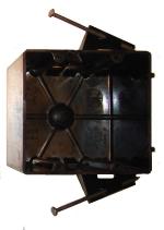 electrical wiring box - 2-gang electrical nail box