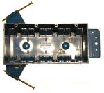 electrical wiring box - 4-gang plastic nail box