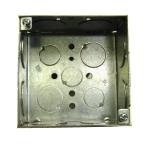 electrical wiring box - 4-square-metal-box